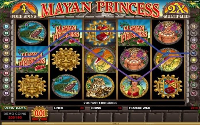Online casino bonus. Mayan Princess