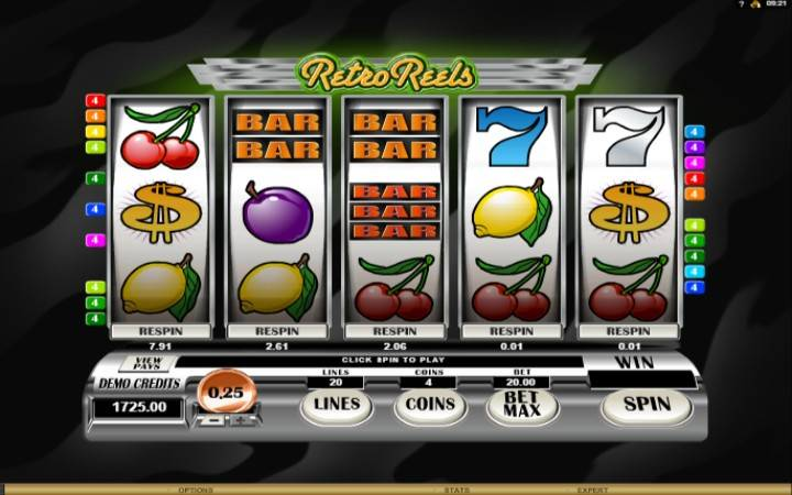 Retro Reels, Online Casi no Bonus