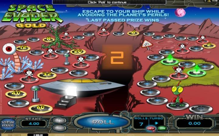 Space Evader Gold, Online Casino Bonus