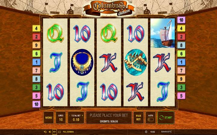Online casino bonus, kazino, rulet, Columbus Deluxe