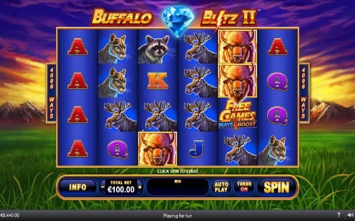Buffalo Blitz II, online casino bonus