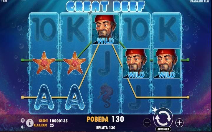 Great Reef, Džoker, Online Casino Bonus