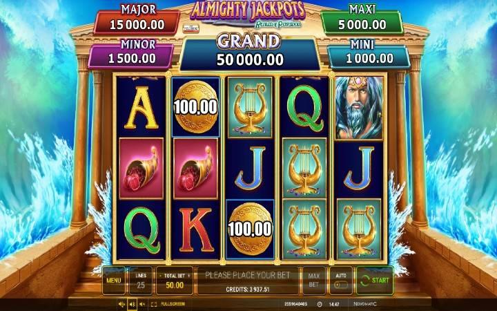 Almighty Jackpots Realm of Poseidon, Online Casino Bonus