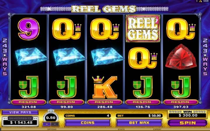 Online Casino Bonus, Reel Gems