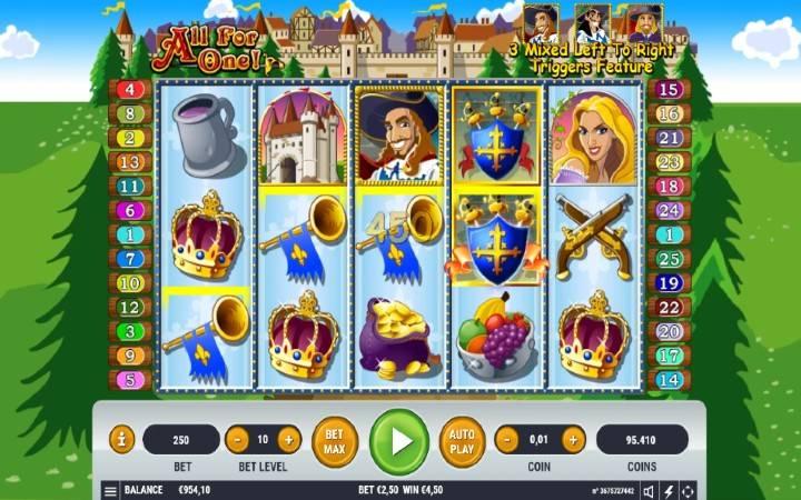 Online Casino Bonus, All For One