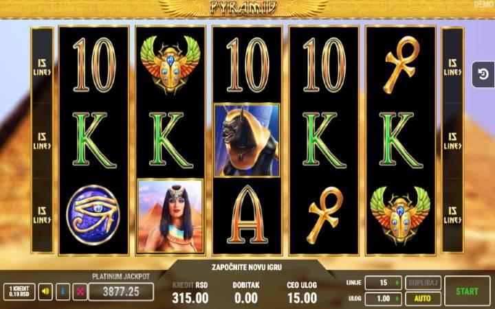 Pyramid, Online Casino Bonus