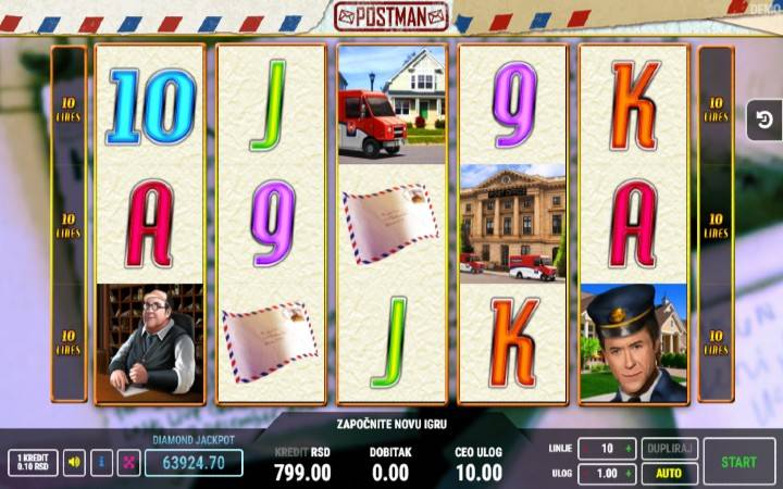 Postman, Online Casino Bonus