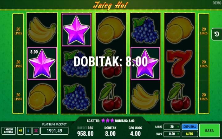 Online Casino Bonus, Juicy Hot