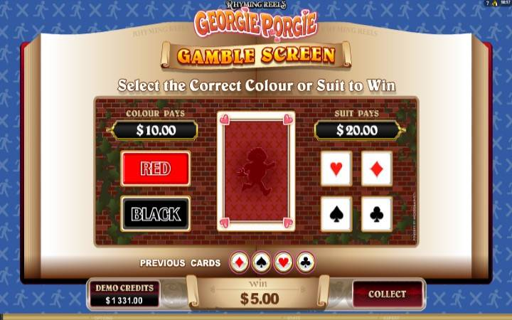 Georgie Porgie, online casino bonus, kockanje