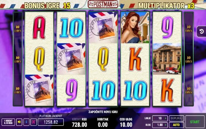 Besplatni spinovi, Bonus, Postman, Bonus Casino