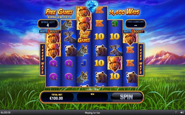 Online casino bonus, Buffalo Blitz II