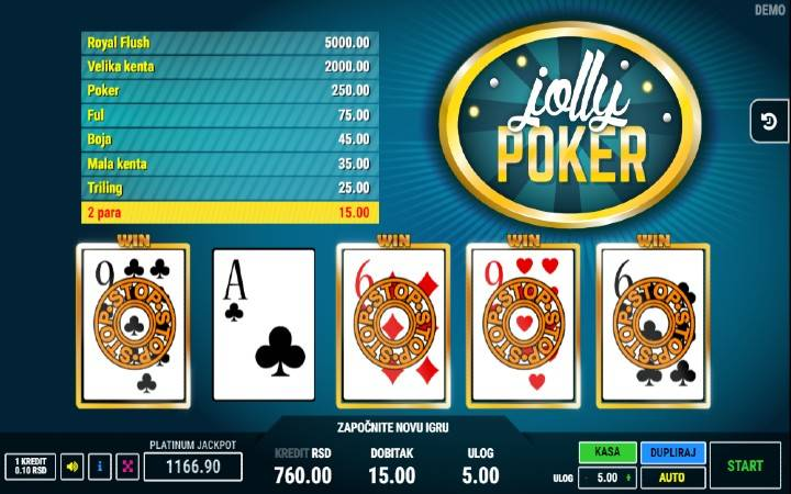 Jolly Poker, online casino bonus