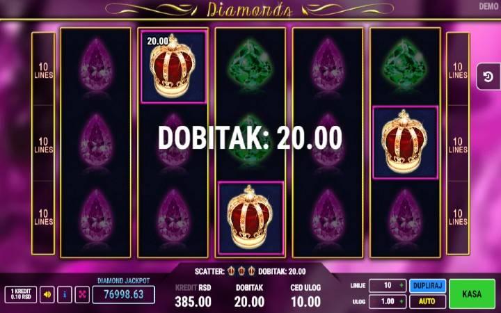 Online Casino bonus, scatter