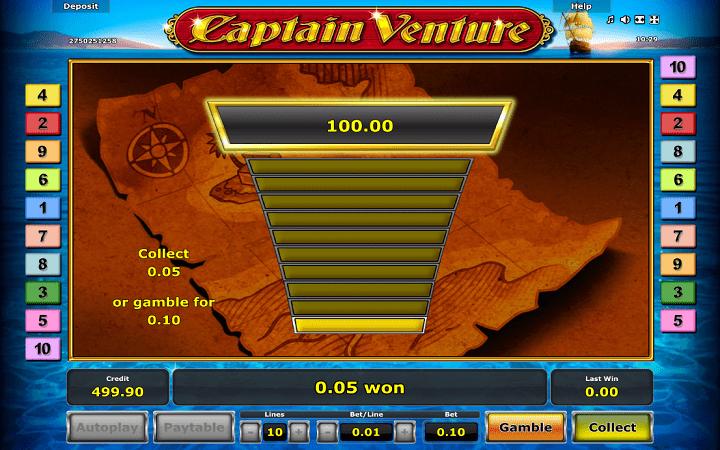 Captain Venture, Novomatic, Online Casino Bonus