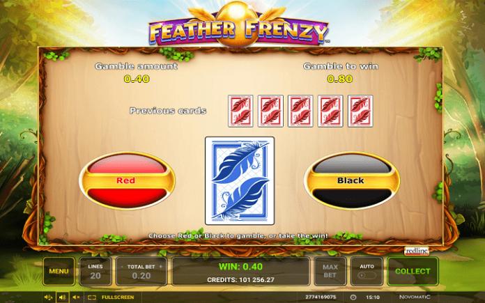 Feather Frenzy slot-kockanje-duplo ili ništa-crna ili crvena