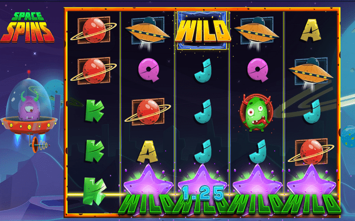 Space Spins, Micorgaming, Online Casino Bonus