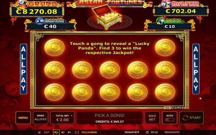 Asian Fortunes, Novomatic, Greentube, Online Casino Bonus