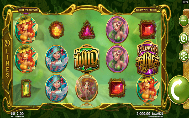 Microgaming, Just For The Win, Bonus Casino, Goldwyns Fairies