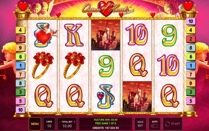 Queen of Hearts, Novomatic, Greentube, Online Casino Bonus