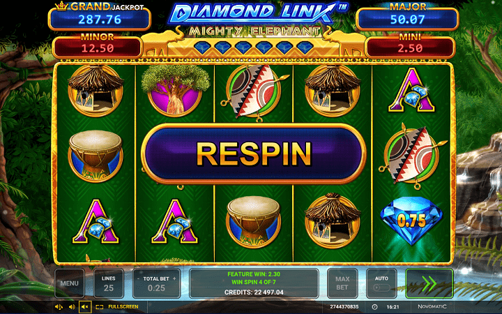 Diamond Link Mighty Elephant, Greentube, Novomatic, Online Casino Bonus