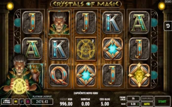 Čarobnjakov Bonus, Online Casino Bonus, Crystals of Magic