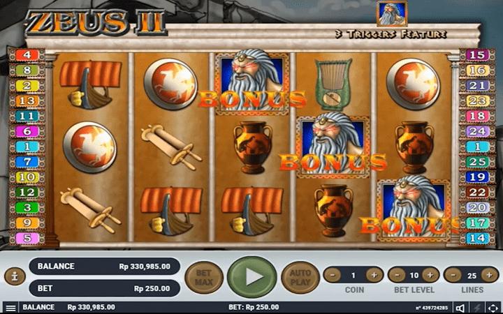 Zeus 2, Habanero, Online Casino Bonus