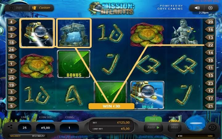 Bonus, Online Casino Bonus, Mission Atlantis