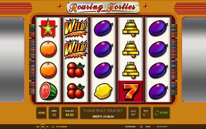 Roaring Forties, voćkice, Online Casino Bonus, Green Tube