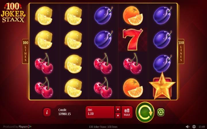 100 Joker Staxx, Online Casino Bonus