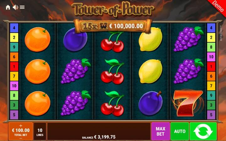 Tower of Power, Gamomat, Online Casino Bonus