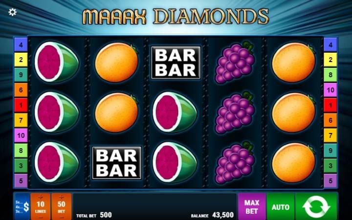 Maaax Diamonds, Online Casino Bonus, Gamomat
