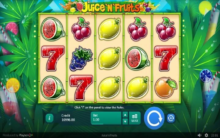 Online Casino Bonus, Juice N Fruits, Playson