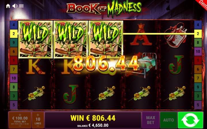 Book of Madness, Online Casino Bonus