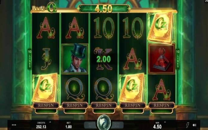 Book of Oz, Online Casino Bonus