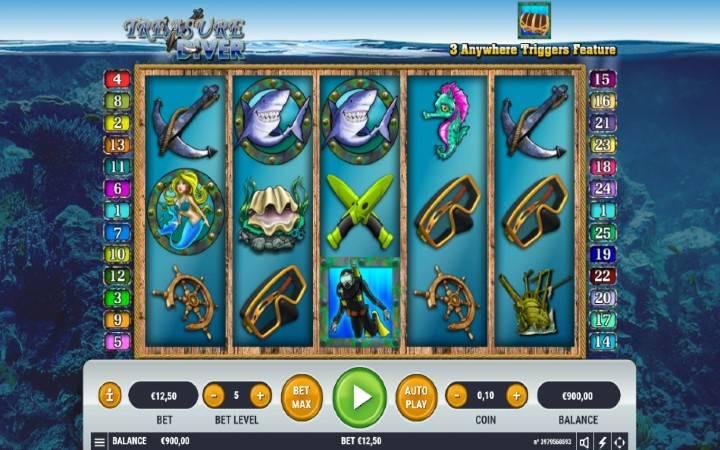 Džokeri, Treasure Diver, Online Casino Bonus