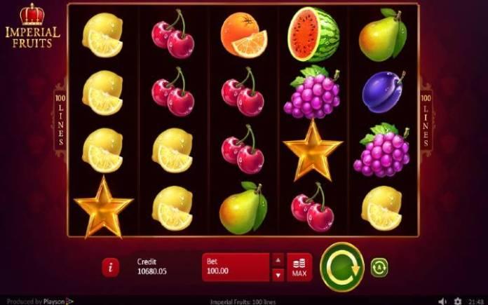 Imperial Fruits: 100 lines, Online Casino Bonus, voćkice