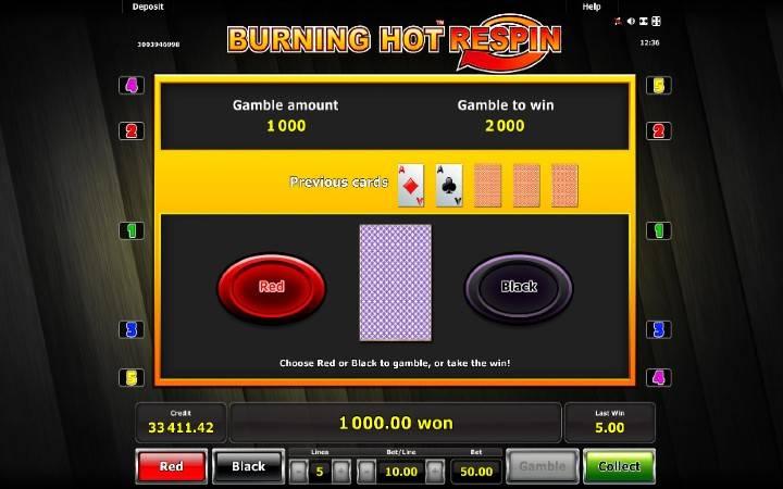 Kockanje, Online Casino Bonus, Burning Hot Respin
