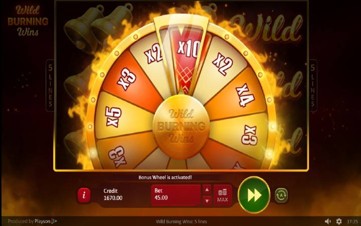 Točak Sreće, Online Casino Bonus, Multiplikatori, Wild Burning Wins