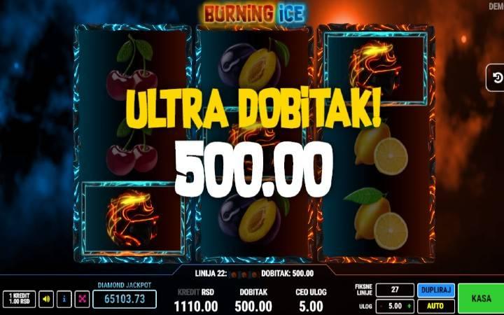 Respin, Online Casino Bonus, Burning Ice