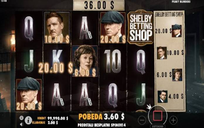 Shellby Betting Shop, Online Casino Bonus, Peaky Blinders