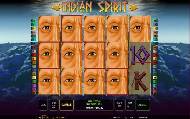 Besplatni spinovi, Online Casino Bonus, Indian Spirit
