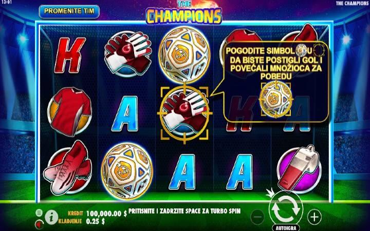 The Champions, Online Casino Bonus