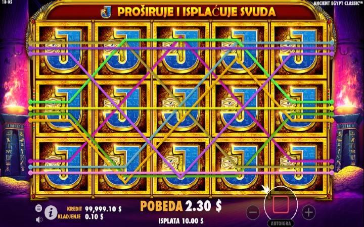 Složeni simbol, besplatni spinovi, Ancient Egypt Classic, Online casino bonus