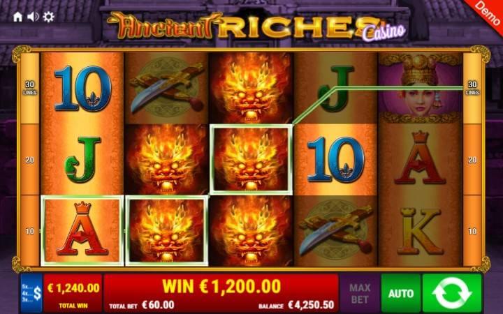 Ancient Riches Casino, Online Casino Bonus, Gamomat