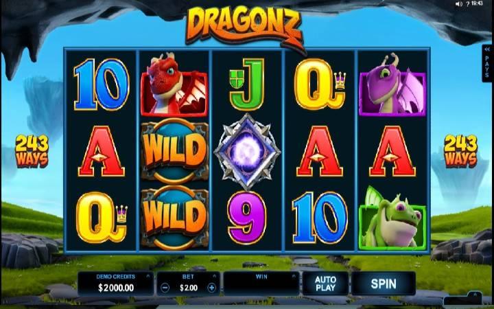 Dragonz, 243 dobitne kombinacije