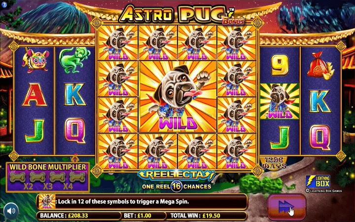 Astro Pug, Microgamiing, Online Casino Bonus