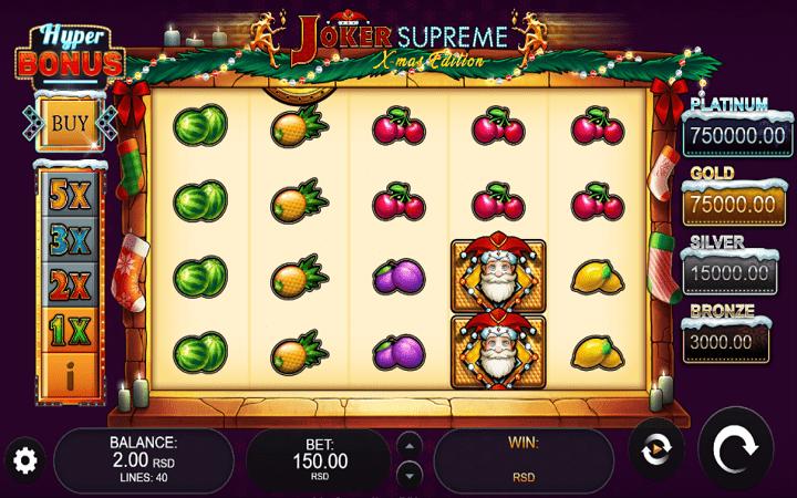 oker Supreme X-Mas Edition, Kalamba, Online Casino Bonus