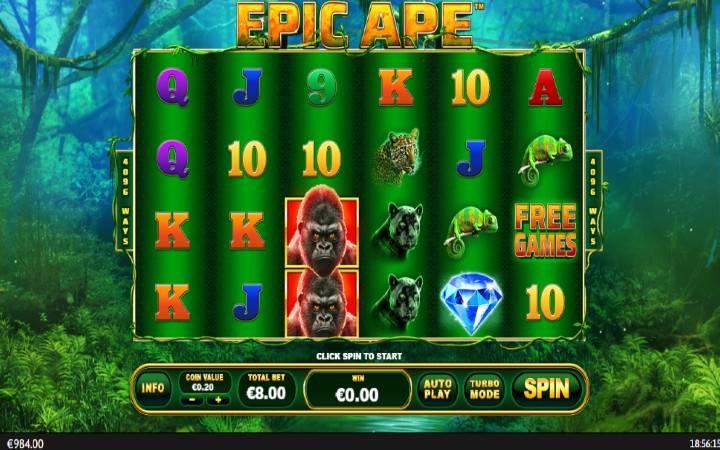Epic Ape, Playtech, Online Casino Bonus