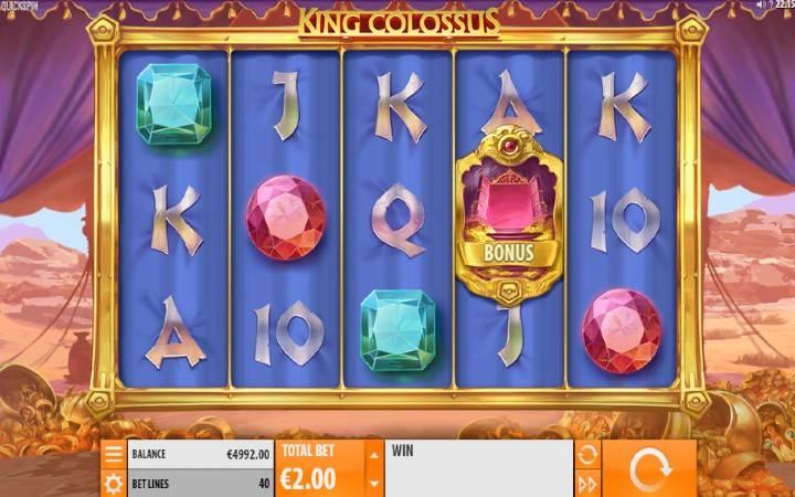 King Colossus, Online Casino Bonus, Quickspin