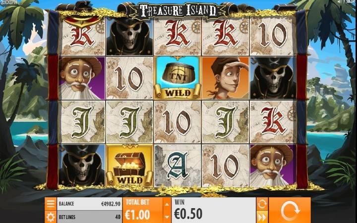 Treasure Island, Quickspin, Online Casino Bonus